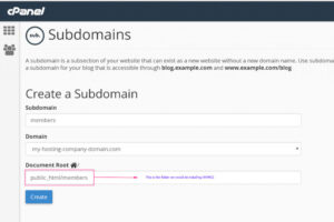 Read more about the article Creating a subdomain to install WHMCS